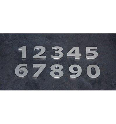 Números acero inoxidable AISI 316. Instalación adhesiva.