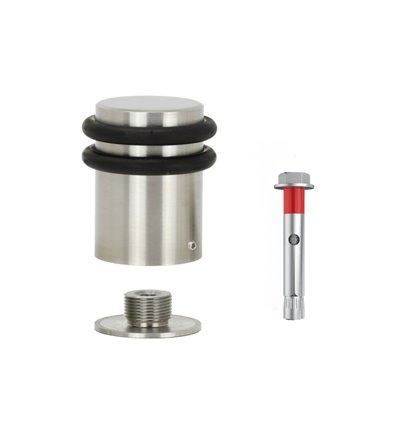 Tope de puerta en acero inoxidable,base roscada, fijacion taco expansion metalico (I-256-CB)