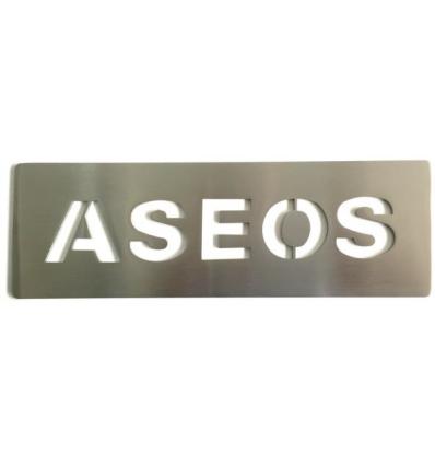 Pictograma - placa Aseos acero inoxidable AISI 316 (Ref: 668)