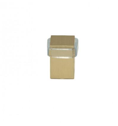 Tope puerta latón (I-190) - Fijación tornillo - Mate Goma transparente
