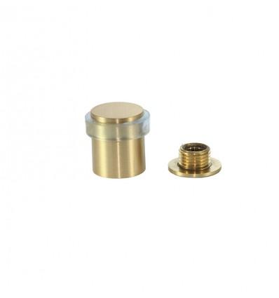 Tope de puerta latón (I-180 TCB) - fijación tornillo - Mate con goma transparente
