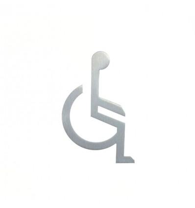 Pictograma - silueta lavabo minusválidos acero inoxidable AISI 316 (Ref: 662)