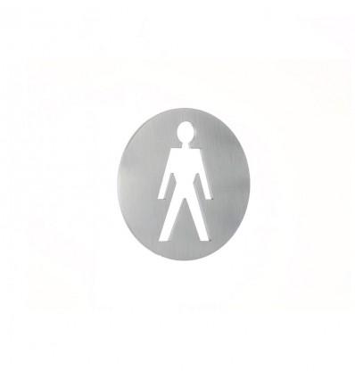 Pictograma - placa lavabo caballeros acero inoxidable AISI 316 (Ref: 663)