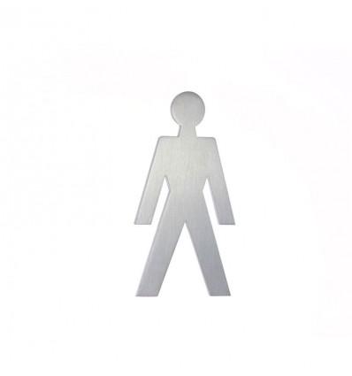 Pictograma - silueta hombre acero inoxidable AISI 316 (Ref: 660)