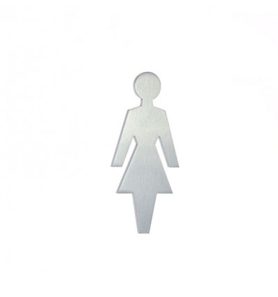 Pictograma - silueta lavabo señoras acero inoxidable AISI 316 (Ref: 661)