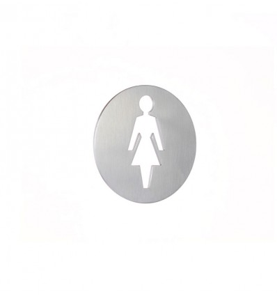 Pictograma - placa lavabo señoras acero inoxidable AISI 316 (Ref: 664)