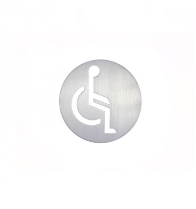 Pictograma - placa lavabo minusválidos acero inoxidable AISI 316 (Ref: 665)