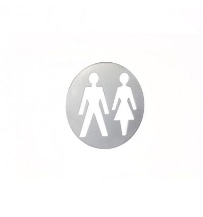 Pictograma - placa lavabo señoras y caballeros acero inoxidable AISI 316 (Ref: 666)