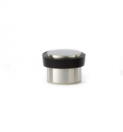 Tope de puerta adhesivo acero inoxidable (I-163) - Goma negra