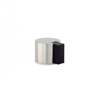 Tope de puerta adhesivo acero inoxidable (I-193/24) - Goma negra