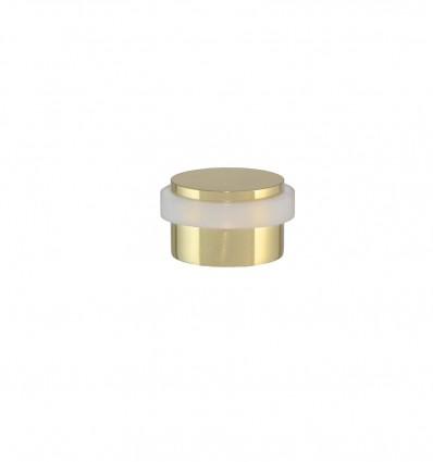 Tope de puerta adhesivo latón -Brillo con goma blanca (I-103-B)