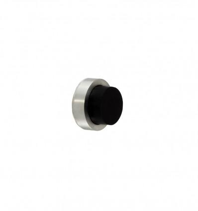 Tope de pared manilla (Adhesivo) acero inoxidable (Ref: I-205-24 ) - Mate goma negra